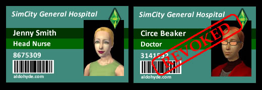 SimCity General Hospital: Jenny Smith & Circe Beaker