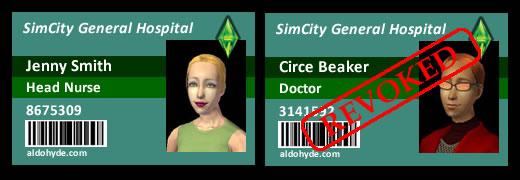SimCity General Hospital: Jenny Smith & Circe Beaker