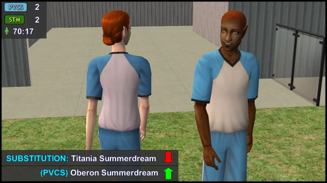 Substitution (PVCS): Titania Summerdream Out, Oberon Summerdream In