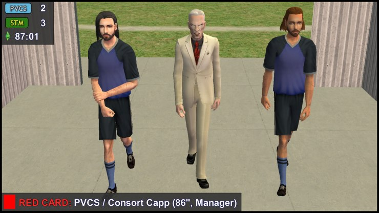 Red Card: Consort Capp - PVCS Manager is Marched to the Dressing Room