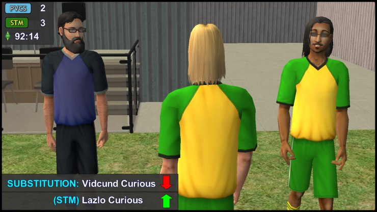 Substitution (STM): Vidcund Curious Out, Lazlo Curious In