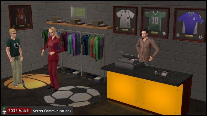 Regan, Cornwall & Octavius at their Sports Shop