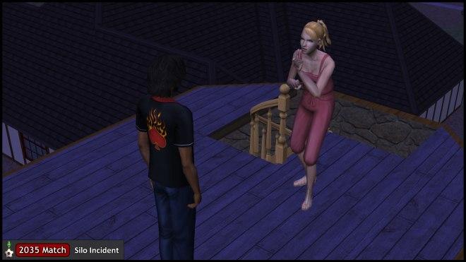 Mona Capp threatens Mercutio Monty