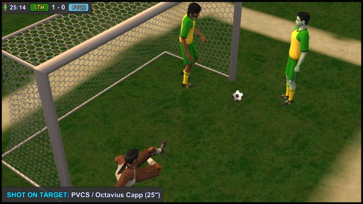 Mercutio Monty clears the ball off the line