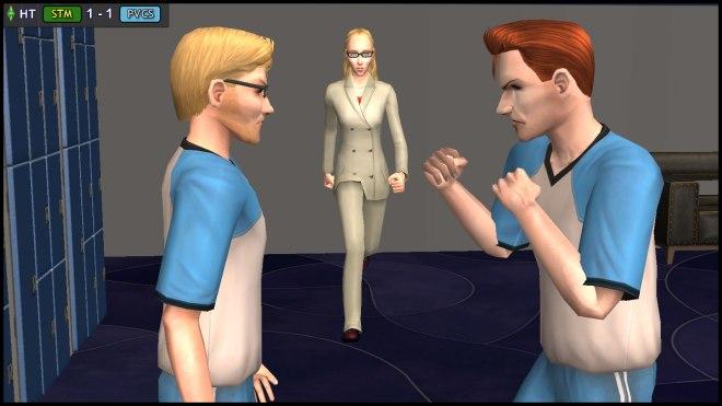 Regan Capp intervenes in the penalty quarrel between Octavius & Tybalt Capp