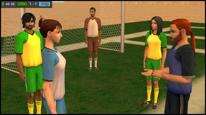 Lucy Burb is warned by Referee Baptiste