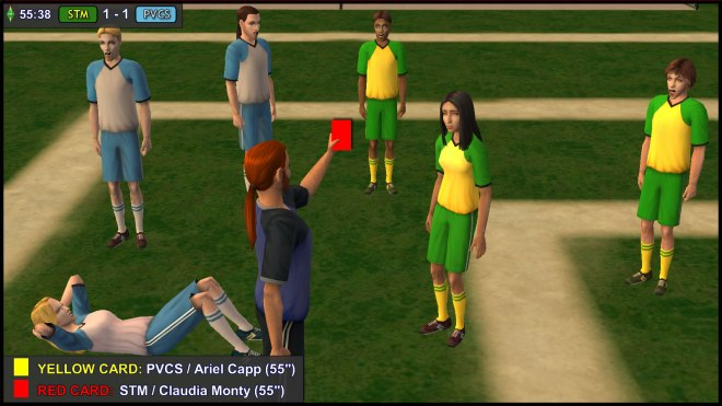 Claudia Monty gets a Red Card for her impetuous act