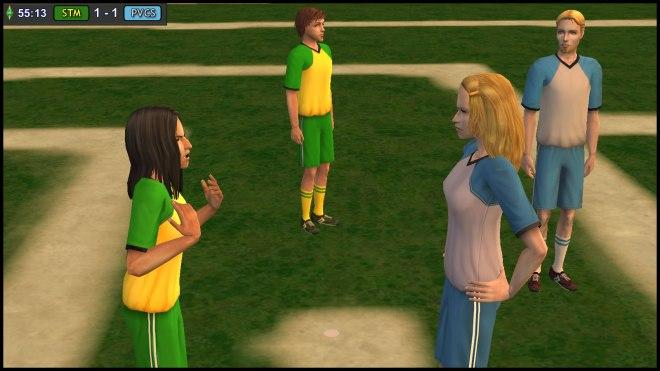 Claudia Monty quarrels with Ariel Capp - daughter of Goneril & Albany Capp