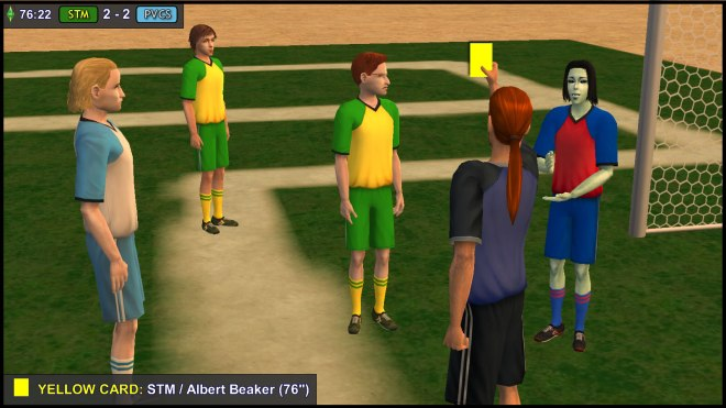 Yellow Card - Albert Beaker glares at Juan Caliente... again