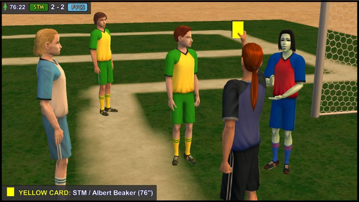 Yellow Card - Albert Beaker glares at Juan Caliente... again