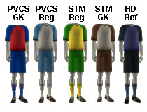 PVCS vs STM Jersey Color Codes