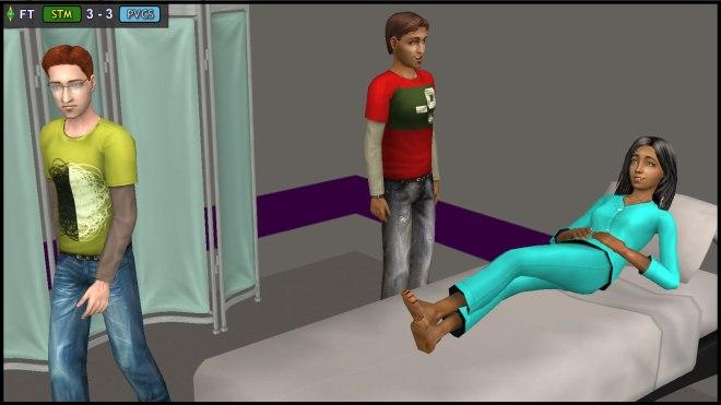 Horatio Monty visits injured STM teammate Isabel Loner in hospital