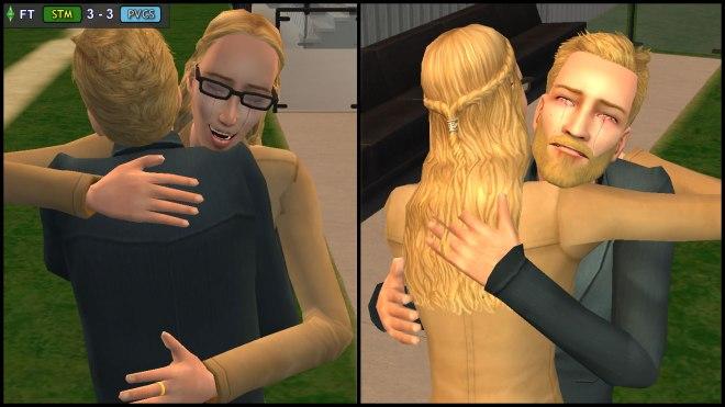 Regan Capp & Kent Monty - Post-Feud Tearful Hug