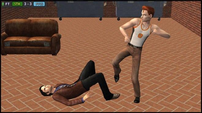 Tybalt Capp beats up a random victim in Belladonna Cove