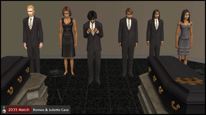 Relatives of Romeo & Juliette Monty mourn at their funeral