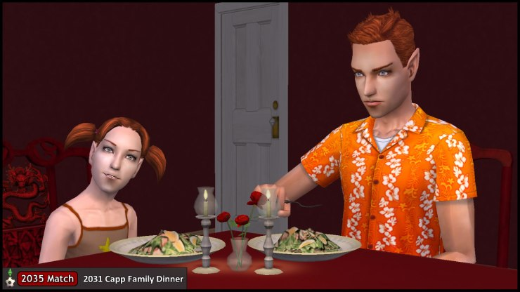 Puck Summerdream and daughter Kelly at the 2031 Family Dinner