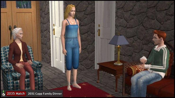 Tybalt Capp discusses family dinner plans with Goneril & Ariel