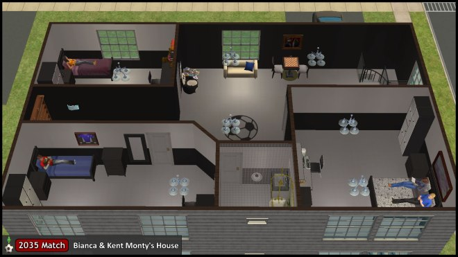 2035 House: Upstairs, Bedroom Layout