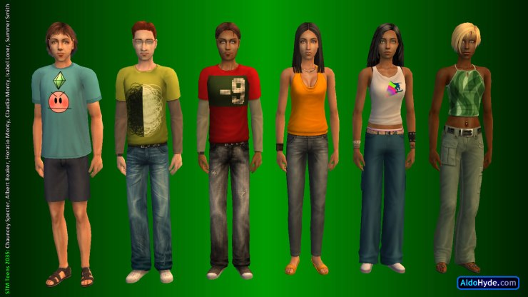 Team STM Teens 2035: Chauncey Specter, Albert Beaker, Horatio Monty, Claudia Monty, Isabel Loner, Summer Smith