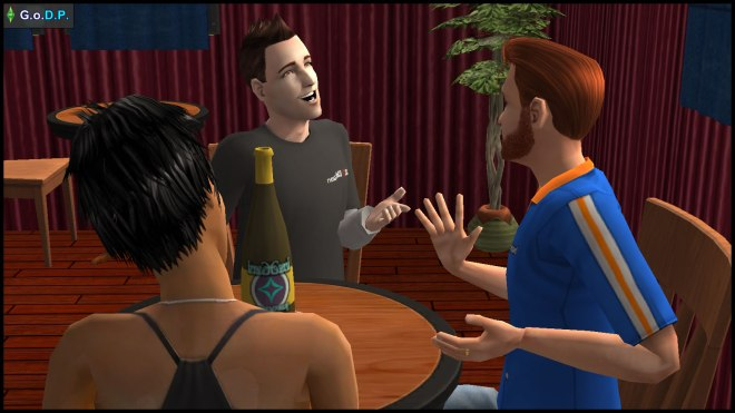John Burb tells Daniel Pleasant how pleased he is to have a football-loving girlfriend in Jennifer