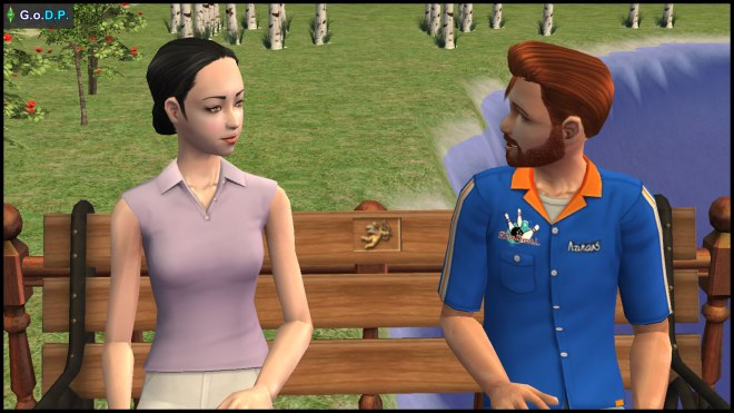 Daniel Pleasant & Mary-Sue Oldie chatting