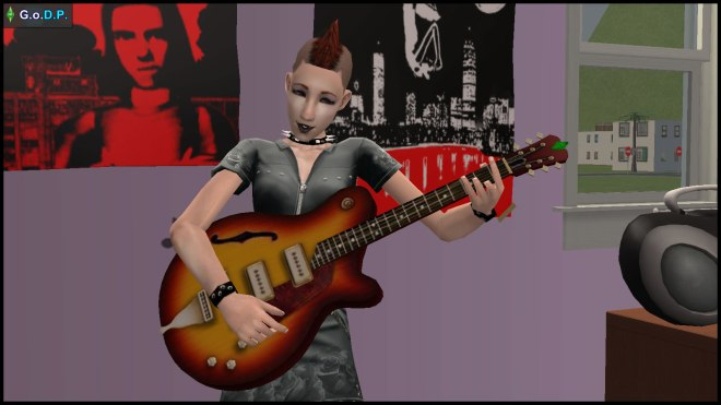 Lilith Pleasant is much happier with a mohawk & electric guitar