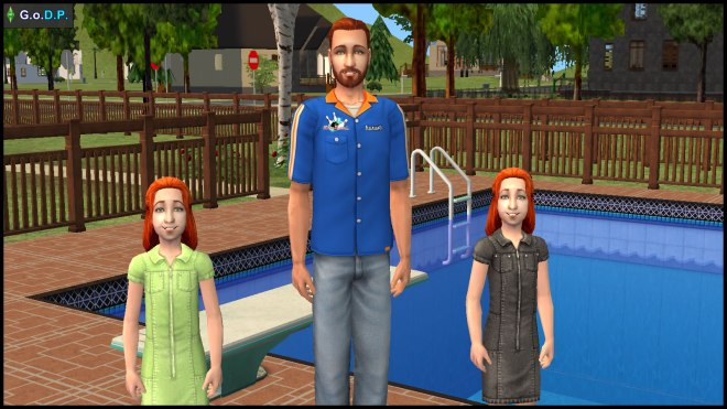 Photo of Daniel Pleasant & his daughters Angela & Lilith