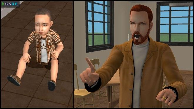 Daniel Pleasant lectures Parker for his dangerous antics
