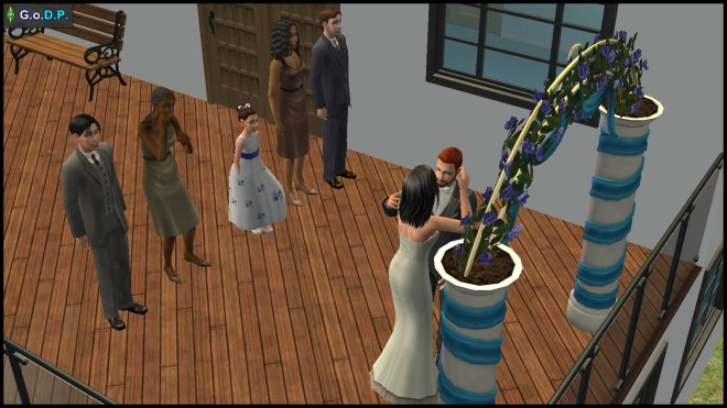Daniel Pleasant & Kaylynn Langerak's wedding. Attended by John, Jennifer & Lucy Burb, and two of Kaylynn's friends