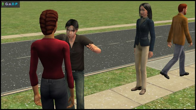 Parker Pleasant shoos away the wrong sims from the set