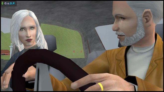Daniel Pleasant and Kaylynn Langerak in the car