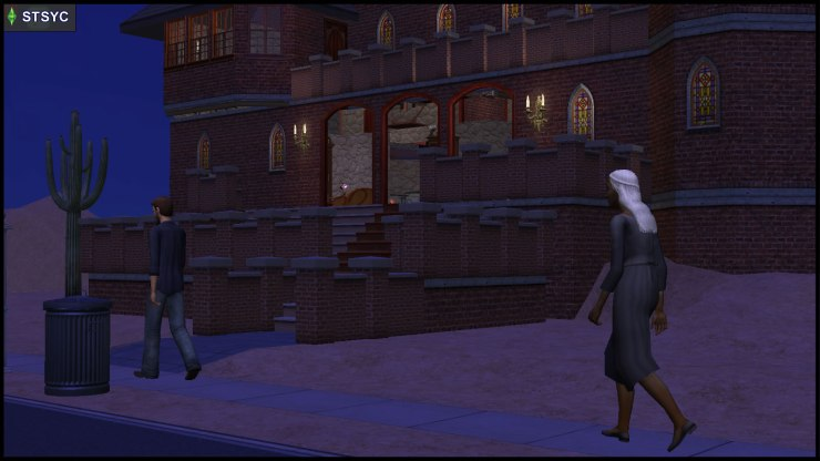 Olive Specter goes to Beaker Castle, while Prometheus Hyde silently Observes