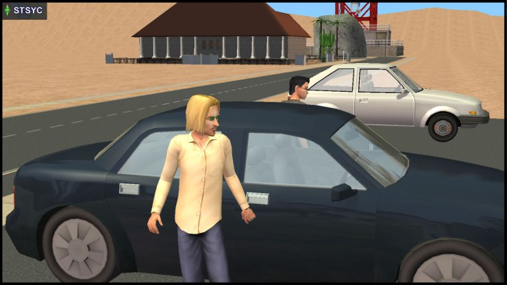 Pascal & Vidcund Curious park their car at the RM Car Lot, before going to 13 Dead End Lane