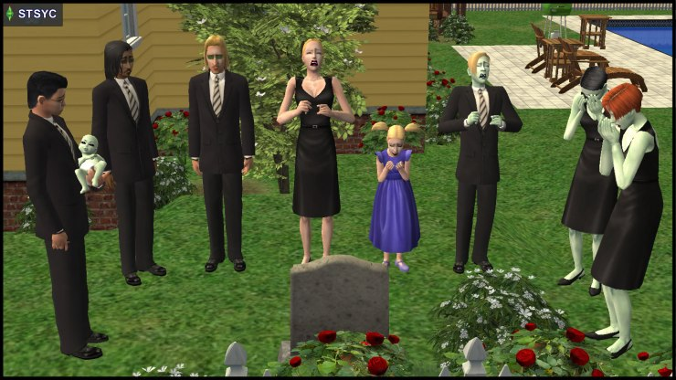 Funeral of Pollination Technician #9 Smith: survived by his immediate family, other daughters and the Curious brothers