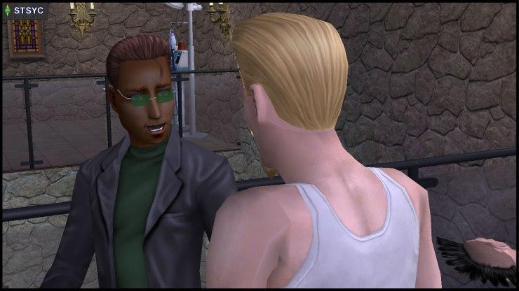 Loki Beaker attacks Earl E. DeMise