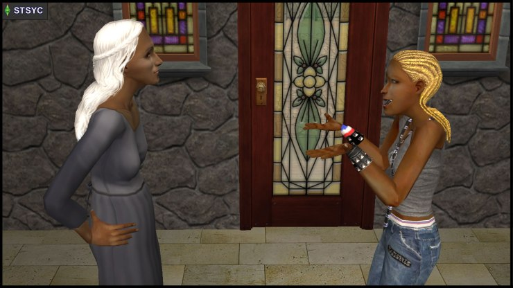 Ophelia Nigmos confronts her aunt Olive Specter