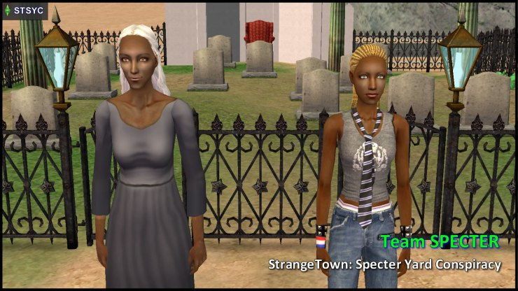 Team Specter: Olive Specter, Ophelia Nigmos and the Graveyard