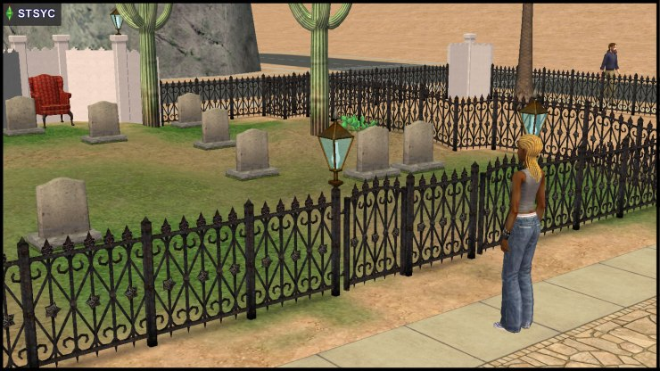 Ophelia Nigmos stares at the decimated Specter graveyard, as RM Roberts walks by