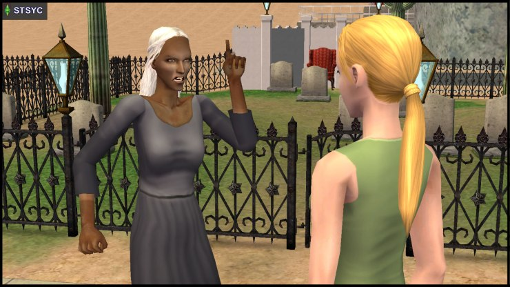Olive Specter threatens Jenny Smith