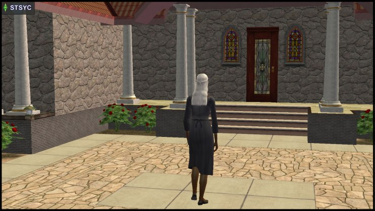 Olive Specter walks back to her house (13 Dead End Lane)