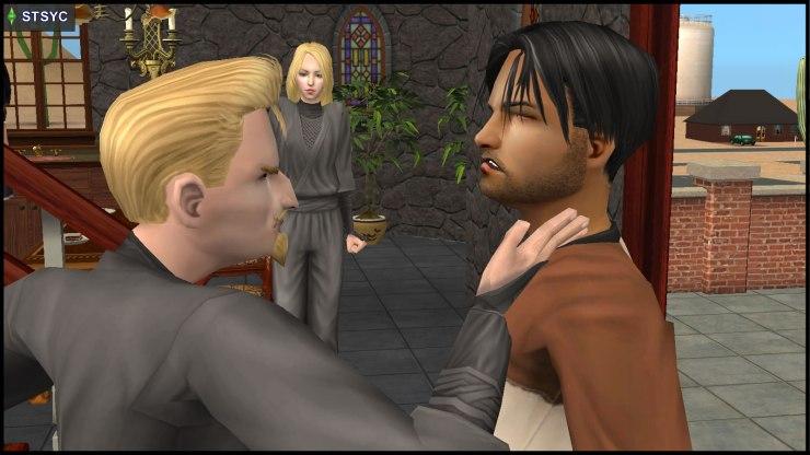 Loki Beaker slaps Ajay Loner, while Erin Beaker can't bear to watch