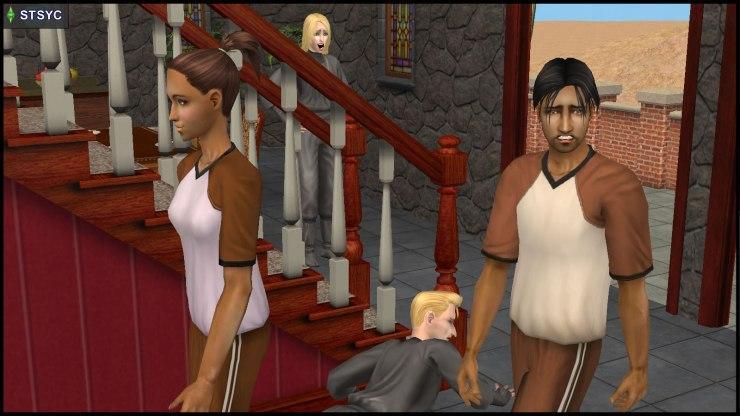 Ajay Loner & Kristen Loste walk away from Erin & Loki Beaker