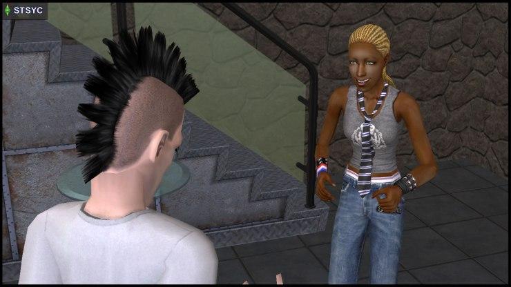 Ophelia Nigmos addresses her cousin Nervous Subject
