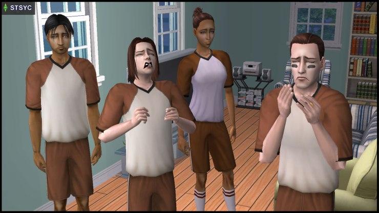 Team Grunt's survivors: General Buzz Grunt, Ripp Grunt, Kristen Loste, Ajay Loner