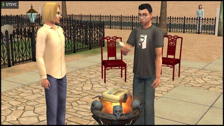 Pascal Curious uses the Resurrect O Nomitron, while Vidcund Curious guards him