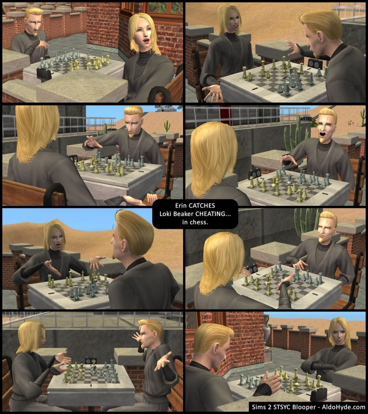 Erin Beaker catches Loki Beaker cheating... in chess