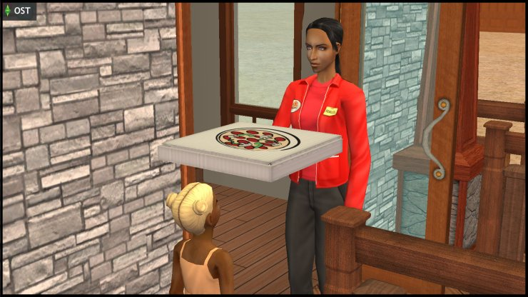 Danielle Greaves delivers pizza to the Muenda household