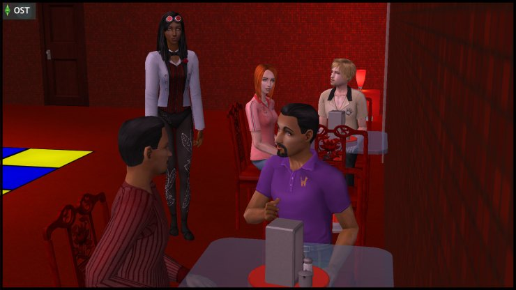 Olive Specter (DJ Spectra) pretends not to have heard the conversation between Lou & Hugh Thanasia