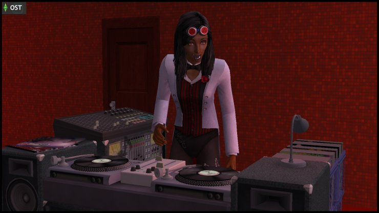 Young Olive Specter performing as DJ Spectra