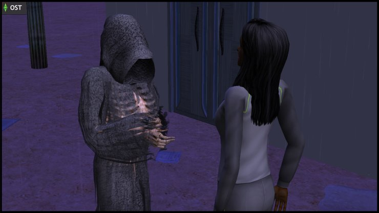 Thanatos Grimm (Grim Reaper) has a word with young Olive Specter